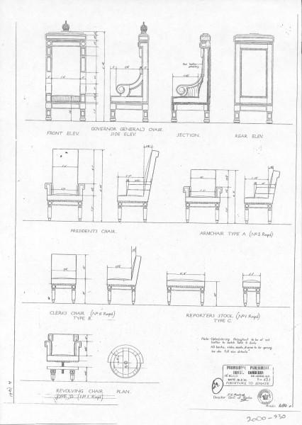 Australian Parliament House Design: President's Chair #1999-1437