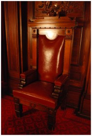 Vice Regal Chair - Image from the Old Parliament House Collection