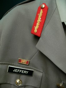 Australian army uniform belonging to former Governor-General Major General Michael Jeffery Detail 1