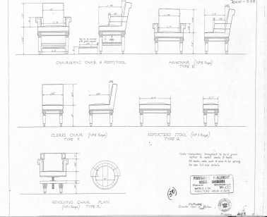 Reporter's Stool (plans) - Old Parliament House Collection
