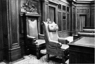 Vice Regal Chair (then) - Image from the Old Parliament House Collection