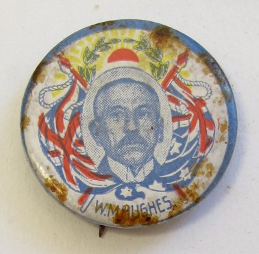 'W.M. Hughes' Badge