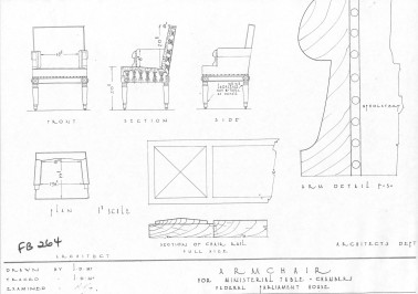 House of Representatives Chamber Armchair - Plan (page 1)