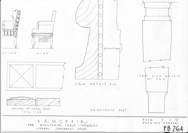 House of Representatives Chamber Armchair - Plan (page 2)