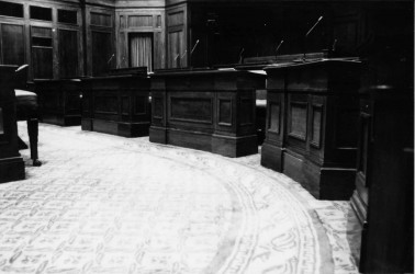 Senate Chamber Desk (then) - Image from the Old Parliament House Collection